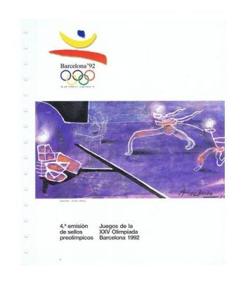 1990 Documento JJOO Barcelona 92. 4ª emisión sellos.  - 1