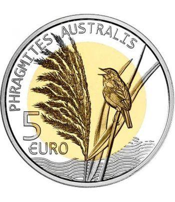 Luxemburgo 5 euros 2018 Roseau. Carrizo. Plata y Oro Nórdico.  - 1