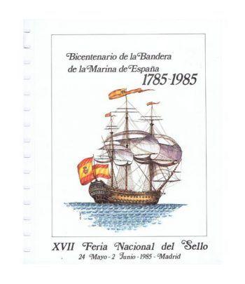 1985 Documento 44 XVII Feria Nacional del Sello. Barco.  - 2