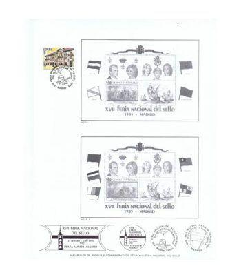 1985 Documento 44 XVII Feria Nacional del Sello. Barco.  - 4