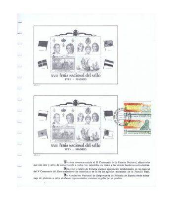 1985 Documento 44 XVII Feria Nacional del Sello. Barco.  - 6