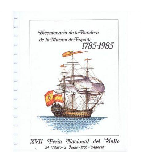 1985 Documento 44 XVII Feria Nacional del Sello. Barco.  - 1
