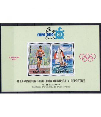 1980 Expo Ocio 80. Hojita recuerdo.  - 2