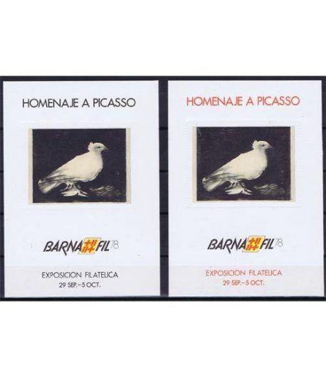 1978 BARNAFIL '78 Picasso. Pintura. 2 Hojitas Recuerdo  - 2