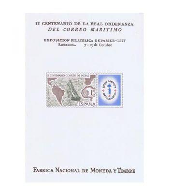 1977 ESPAMER 77 Barcelona. Hojita Recuerdo  - 2