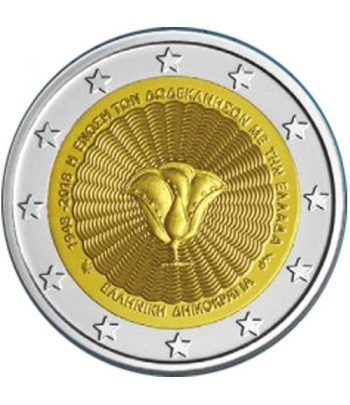 moneda conmemorativa 2 euros Grecia 2018 Dodecaneso  - 2