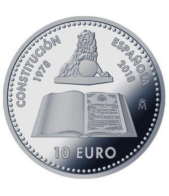 Moneda 2018 40 Aniversario Constitución. 10 euros. Plata.  - 1