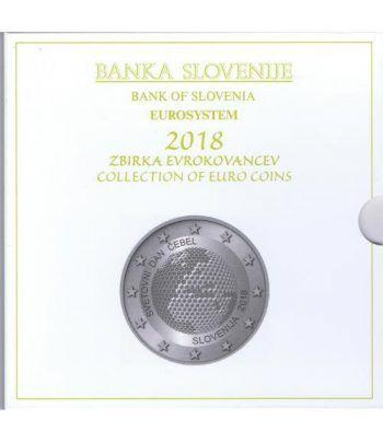 Cartera oficial euroset Eslovenia 2018. Incluye 2 y 3 euros  - 4
