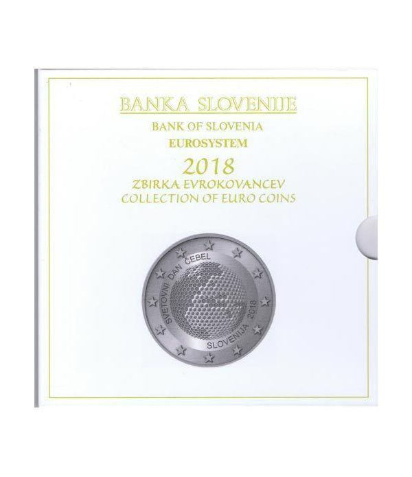 Cartera oficial euroset Eslovenia 2018. Incluye 2 y 3 euros  - 1