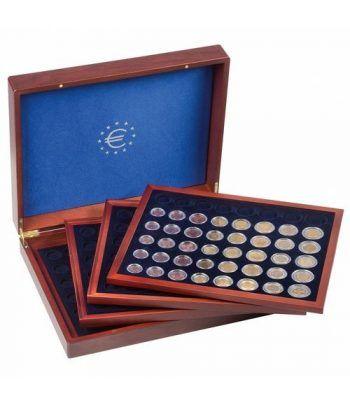 LEUCHTTURM Estuche de madera con 4 bandejas para series euro Estuche Monedas - 2