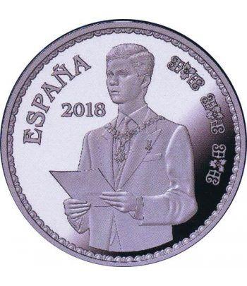 Moneda 2018 50 Aniversario Felipe VI Sucesor. 10 euros. Plata.  - 1