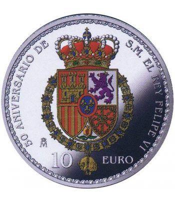 Moneda 2018 50 Aniversario Felipe VI Leonor. 10 euros. Plata  - 2