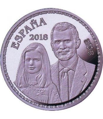 Moneda 2018 50 Aniversario Felipe VI Leonor. 10 euros. Plata  - 4