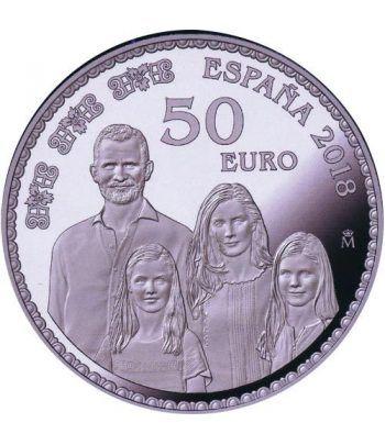 Moneda 2018 50 Aniversario Felipe VI Familia. 50 euros. Plata  - 1