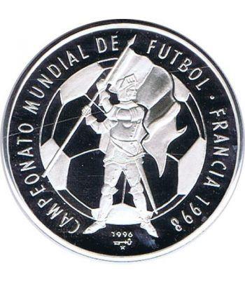 Moneda de plata 10 pesos Cuba 1996 Mundial Francia 1998  - 1