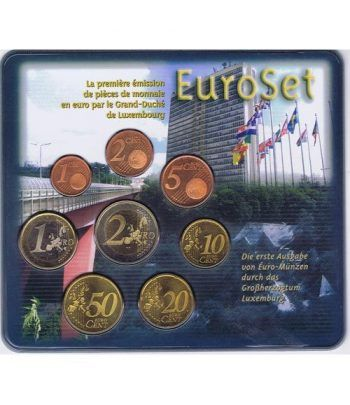 Cartera oficial euroset Luxemburgo 2002  - 1