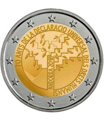 moneda conmemorativa 2 euros Andorra 2018 Derechos Humanos. BU.  - 2
