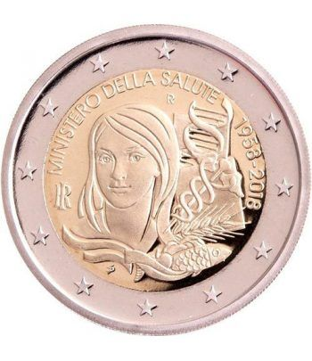 moneda conmemorativa 2 euros Italia 2018 Ministerio Salud  - 2