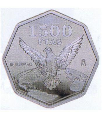 1500 Pesetas 2000 Milenio Paloma de la Paz.  - 1