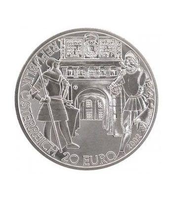 moneda Austria 20 Euros 2002 El Renacimiento (estuche proof).  - 4