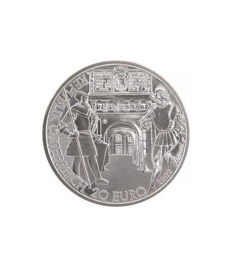 moneda Austria 20 Euros 2002 El Renacimiento (estuche proof).  - 1