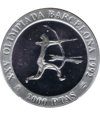 2000 Pesetas 1990 Juegos Olimpicos Barcelona'92 Arquero Proof  - 1