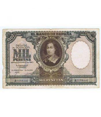 (1940/01/09) Madrid. 1000 Pesetas. MBC. Serie A1538440  - 1