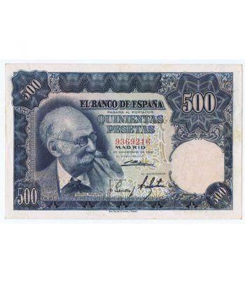 (1951/11/15) Madrid. 500 Pesetas. EBC. Sin Serie 9369216  - 2