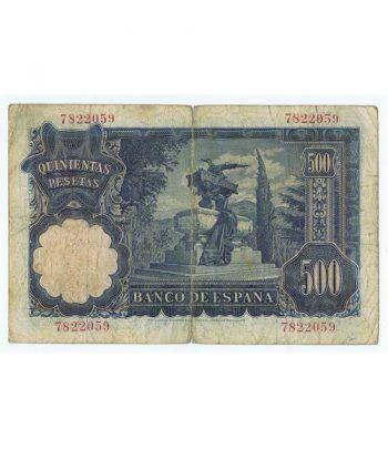 (1951/11/15) Madrid. 500 Pesetas. MBC-. Sin Serie 7822059  - 4