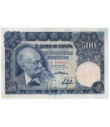 (1951/11/15) Madrid. 500 Pesetas. MBC. Serie A190913  - 2