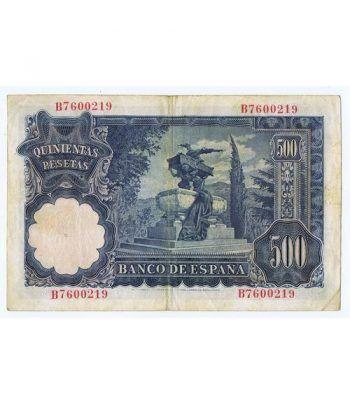(1951/11/15) Madrid. 500 Pesetas. MBC. Serie B7600219  - 4