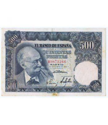 (1951/11/15) Madrid. 500 Pesetas. MBC. Serie B9871266  - 1