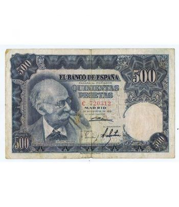 (1951/11/15) Madrid. 500 Pesetas. MBC-. Serie C720312  - 1