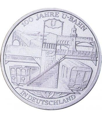 moneda Alemania 10 Euros 2002 D. Centenario del Metro. BU  - 1