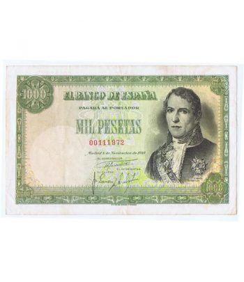 (1949/11/04) Madrid. 1000 Pesetas. MBC+. Serie 00111972  - 2