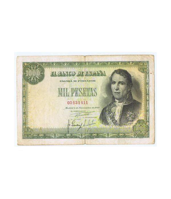 (1949/11/04) Madrid. 1000 Pesetas. MBC-. Serie 05131411  - 1