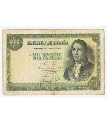 (1949/11/04) Madrid. 1000 Pesetas. MBC-. Serie 05133395  - 1