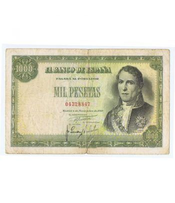 (1949/11/04) Madrid. 1000 Pesetas. MBC-. Serie 04328847  - 2