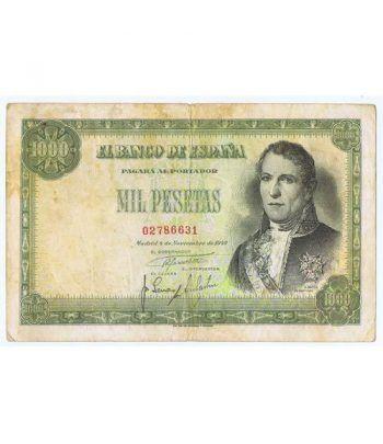 (1949/11/04) Madrid. 1000 Pesetas. MBC-. Serie 02786631  - 1