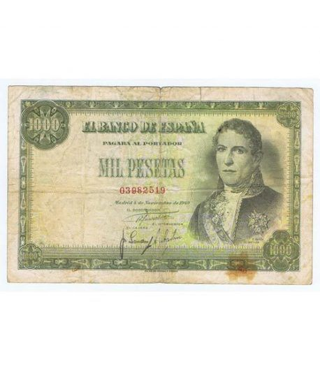 (1949/11/04) Madrid. 1000 Pesetas. BC+. Serie 03982519  - 1