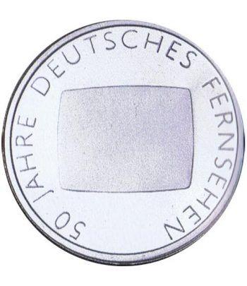 moneda Alemania 10 Euros 2002 G. 50 Años televisión  - 1