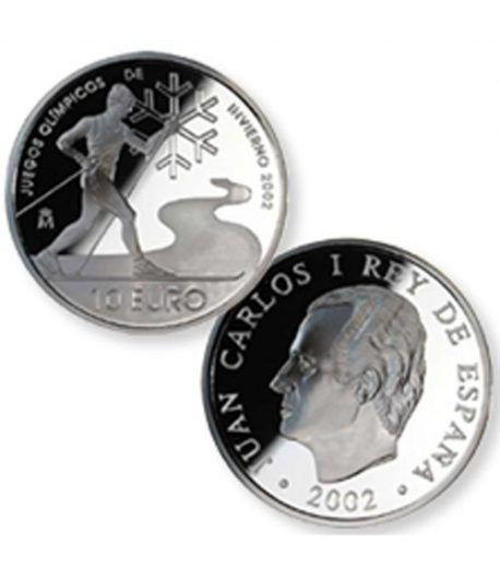 Moneda 2002 J.J.O.O. invierno. 10 euros. Plata.  - 2
