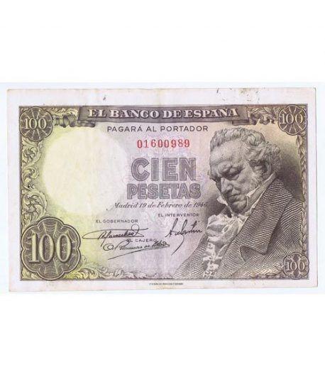 (1946/02/19) Madrid. 100 Pesetas. MBC+. Sin Serie 01600989  - 1