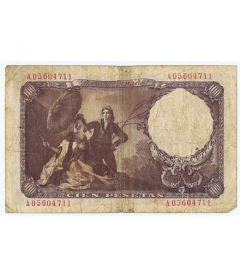(1946/02/19) Madrid. 100 Pesetas. BC. Serie A05604711  - 4