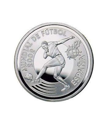 Moneda 2002 Futbol. Delantero. 10 euros. Plata.  - 2