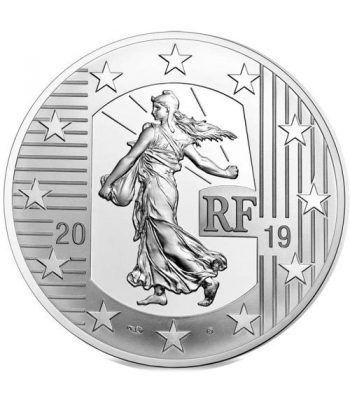 Francia 10€ 2019 La Semeuse. Franco Germinal. Plata  - 1