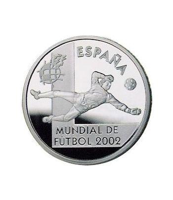 Moneda 2002 Futbol. Portero. 10 euros. Plata.  - 2
