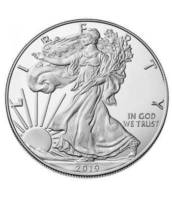 Moneda onza de plata 1$ Estados Unidos Liberty 2019.  - 1