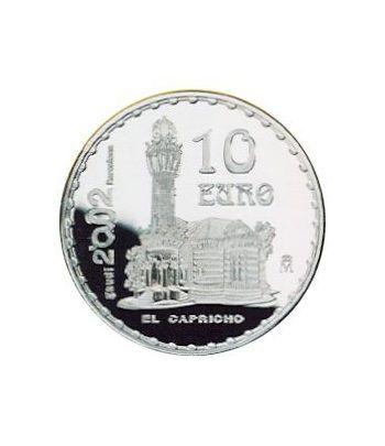 Moneda 2002 Gaudí. El Capricho. 10 euros. Plata.  - 2