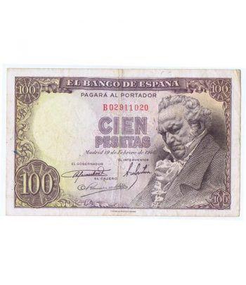 (1946/02/19) Madrid. 100 Pesetas. MBC-. Serie B02911020  - 1